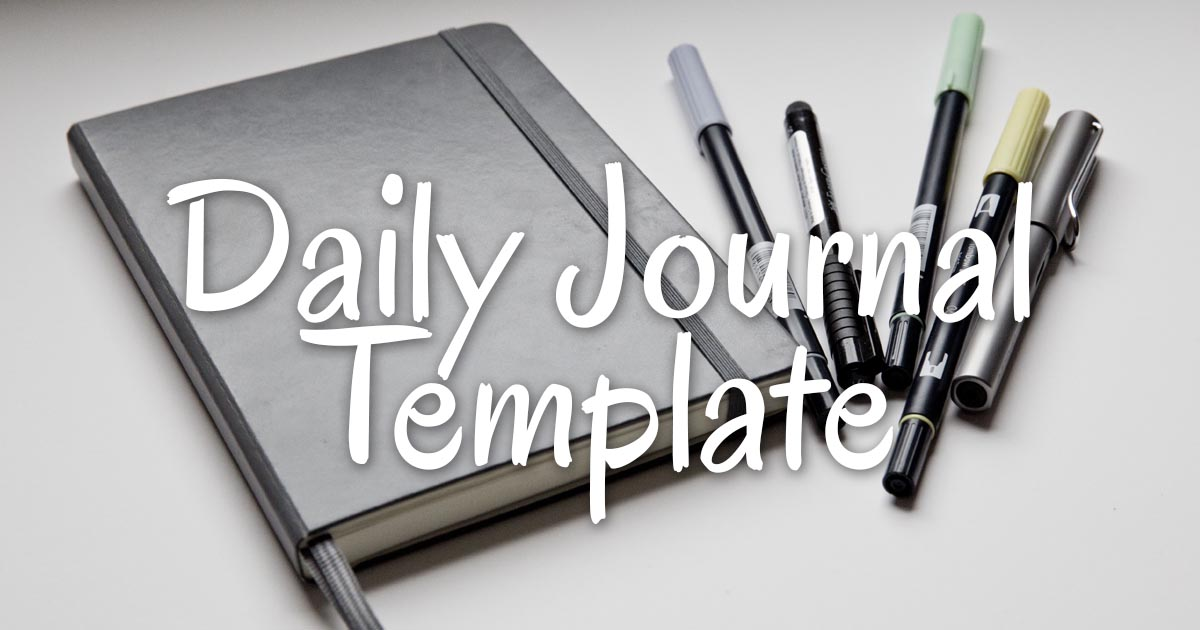 lynk s daily journal template christopher lynk