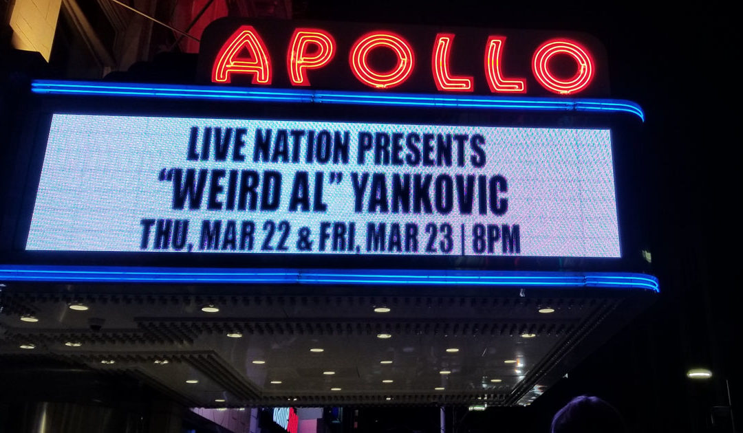 At the Apollo with Weird Al Yankovic